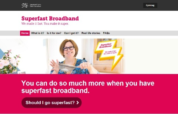 Image of Go superfast campaign on the new GOV.WALES