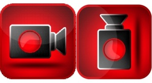 "video camera icon or ""hot water bottle"""