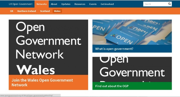Image of Open Government Network Wales website