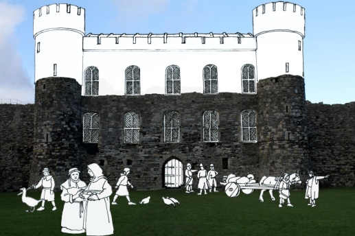 Artist impression of what the castle could have looked like if the work had been finished