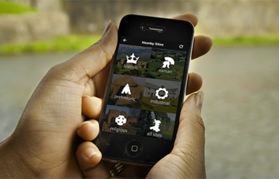 Image of smartphone showing the CADW app
