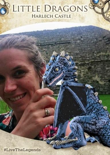 Visitor dragon selfie
